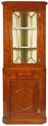 One Kings Lane Vintage English Yew Corner Cabinet
