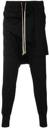 Rick Owens elasticated waist track trousers