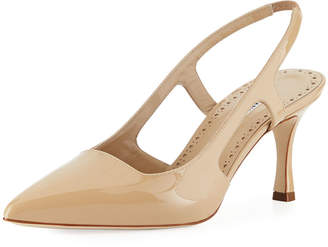 Manolo Blahnik Bretto 70mm Patent Leather Pump