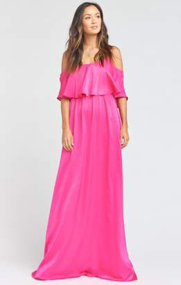 Show Me Your Mumu Caitlin Maxi Dress ~ Flirty Fuchsia Sheen