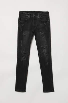 H&M Trashed Skinny Jeans - Black