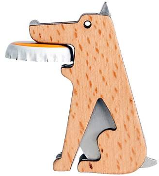 Kikkerland Beech Wood Dog Bottle Opener