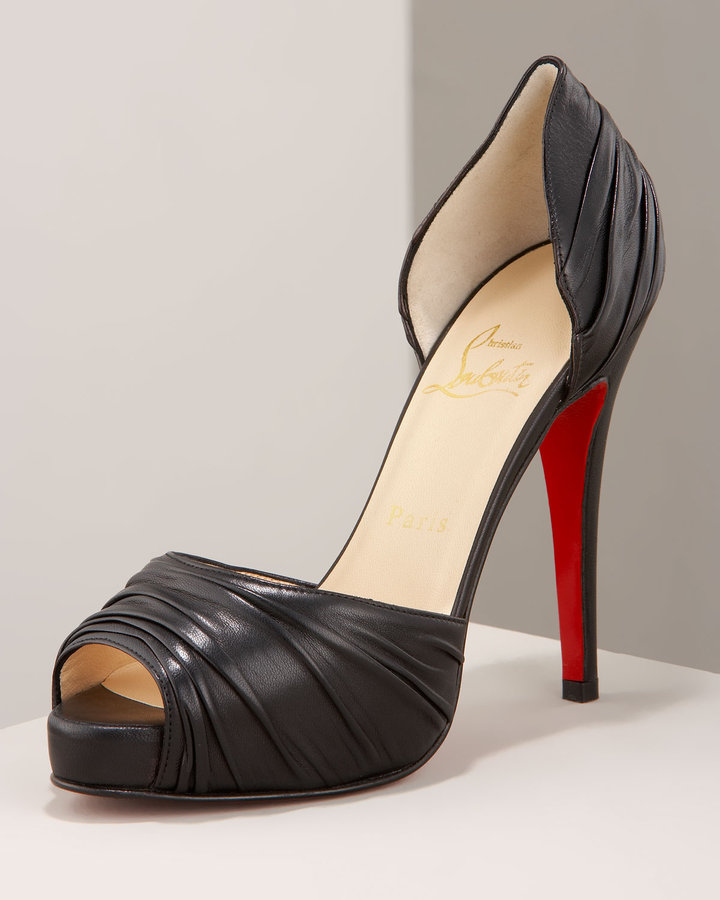 Christian Louboutin Ruched Platform Pump