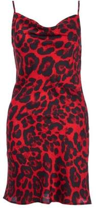 Quiz Womens *Quiz Towie Red Leopard Print Slip Dress