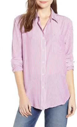 7 For All Mankind Stripe Tie Front Shirt