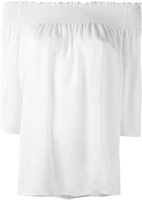Theory pleated detail blouse $318.34 thestylecure.com