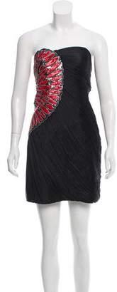 Jay Ahr Strapless Silk Dress