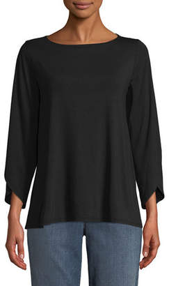 Eileen Fisher Lightweight Viscose Jersey Top, Plus Size