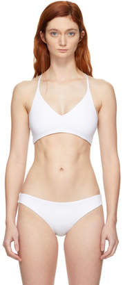BEIGE Skin Reversible White and The Selby Bikini Top