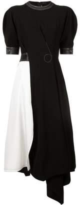 Yigal Azrouel asymmetric colour block dress