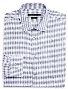 Micro Check Dot Slim Fit Dress Shirt