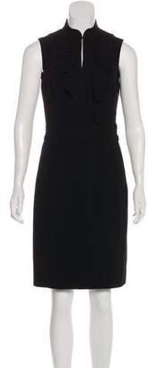 Tory Burch Ruffle-Accented Knee-Length Dress