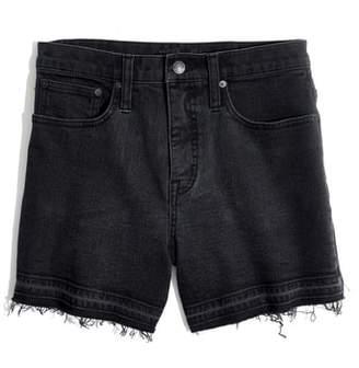 Madewell High Waist Drop Hem Denim Shorts