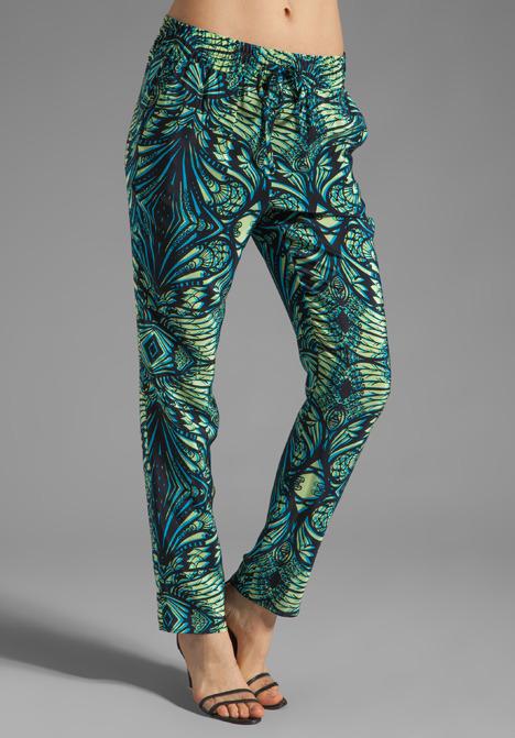 Amanda Uprichard Silk Tribeca Pants