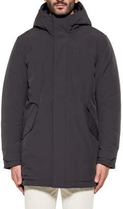 Woolrich Dark Grey Stretch Military Hooded Jacket