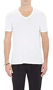 ATM Anthony Thomas Melillo Men's Slub V-Neck T-Shirt - White