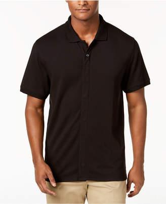 MagnaClick Men's Knit Solid Pima Cotton Polo