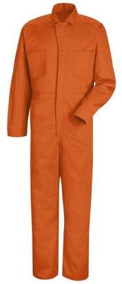 Red Kap Men's Snap-Front Cotton Coverall