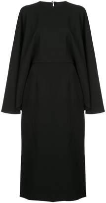 Sara Battaglia cape-style midi dress
