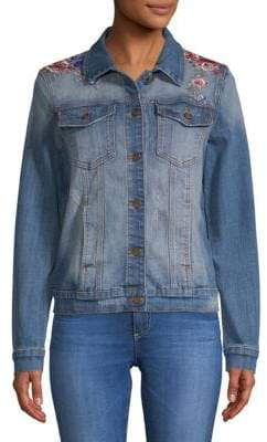Driftwood Geena Embroidered Denim Jacket