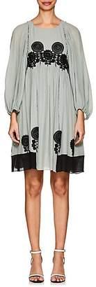 Chloé Women's Floral Silk Minidress - Lt. Green