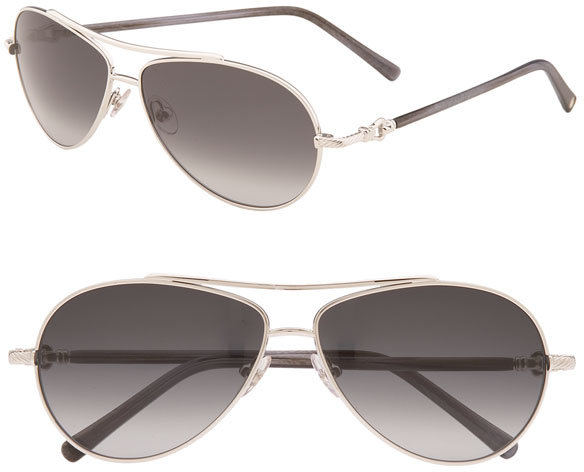 David Yurman 'Buckle' Aviator Sunglasses