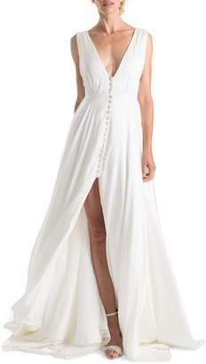 Joanna August Joplin Slit Front A-Line Wedding Dress