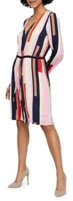 Vero Moda Matilda Colourblock Knee-Length Dress