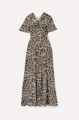 Temperley London Wild Cat Cutout Leopard-print Jersey Maxi Dress