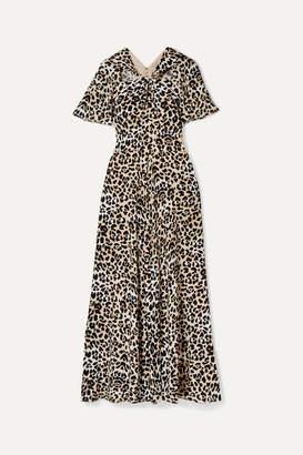 Temperley London Wild Cat Cutout Leopard-print Jersey Maxi Dress