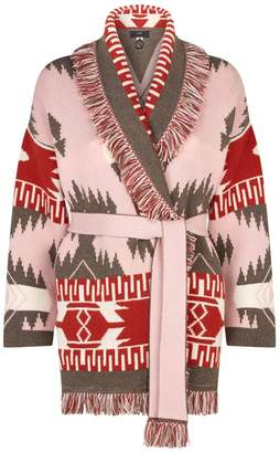 Alanui Jacquard Fringed Icon Cardigan