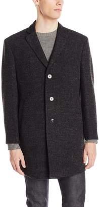 Calvin Klein Men's Marble 34 Inch Overcoat,Dark Charcoal