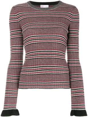 RED Valentino ribbed striped jumper