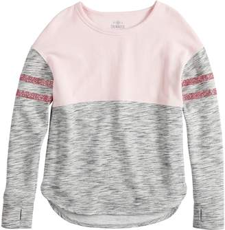 So Girls 7-16 & Plus Size SO Colorblock Fleece Crew Pullover