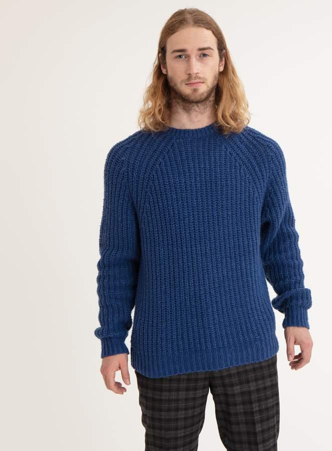 Buy Tu GFW Indigo Blue Crew Neck Chunky Knit Jumper!