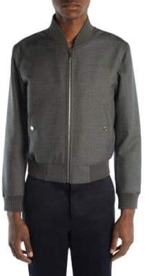 Thom Browne Twill Wool Bomber Jacket