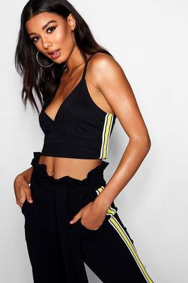 boohoo Malanie Edit Sport Tape Bralet Top