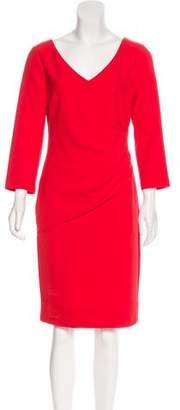 Diane von Furstenberg Long Sleeve Knee-Length Dress