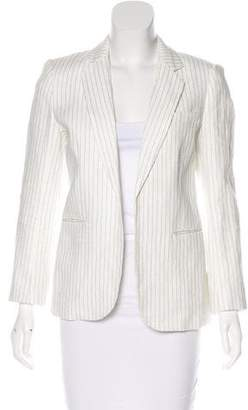 Joie Pinstripe Notch-Lapel Jacket