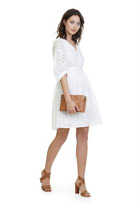 Country Road V-Neck Broderie Dress