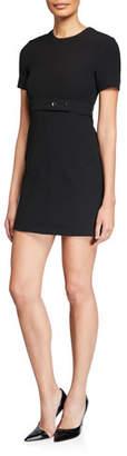 A.L.C. Elaine Belted Short-Sleeve Dress