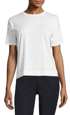 Eileen Fisher Cotton Jersey Box Tee $98 thestylecure.com