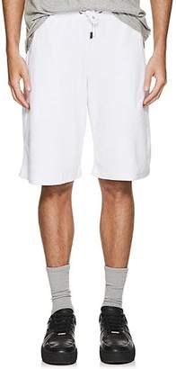 Blood Brother MEN'S TOXO COTTON-BLEND VELOUR TRACK SHORTS - WHITE SIZE XL