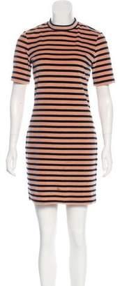 Alexander Wang 2017 Velour Striped Dress