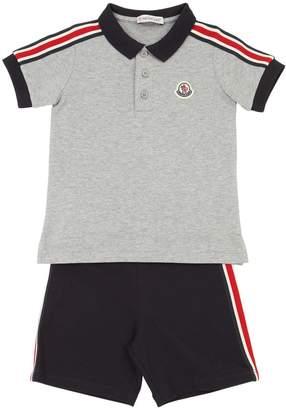 25224f4e0c7a Moncler Cotton Piqué Polo Shirt   Shorts