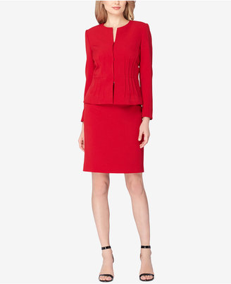 Tahari ASL Pintucked Peplum Skirt Suit $280 thestylecure.com