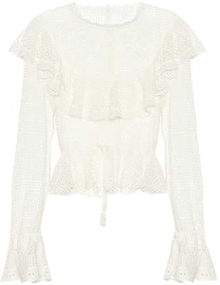 Zimmermann Castile crochet cotton top