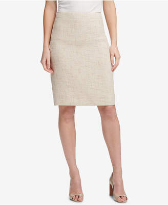 DKNY Crosshatched Pencil Skirt
