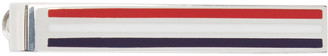 Thom Browne Tricolor Striped Tie Bar $425 thestylecure.com