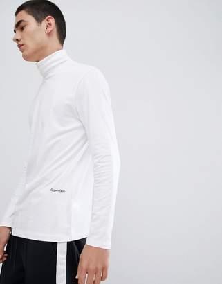 Calvin Klein jersey roll neck with logo
